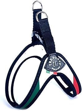 Tre Ponti Arnés para Perros,diseño de Bandera Italiana, Cierre de Hebilla en Material plástico, Medida 3