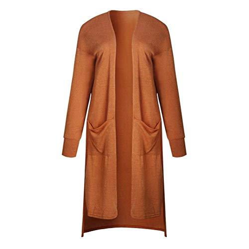Autunno di Monocromo marca Manica Tasche A Qualit Maglia Donna Tempo Comodo Mode Alta Maglioni Irregular Di Lunga Cappotto Lunghi Elegante Cardigan Anteriori Moda Libero Y4qXX8