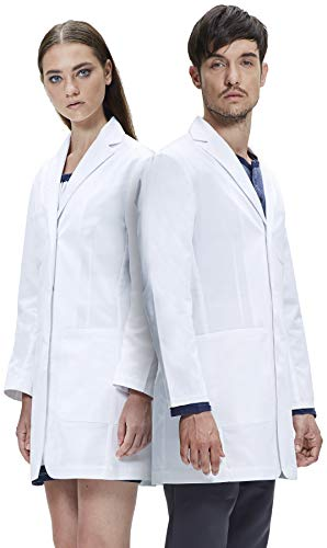Dr. James Unisex Lab Coat, Semi-Tailored Fit, Multiple Pockets, 35 Inch Length DR13-XL -