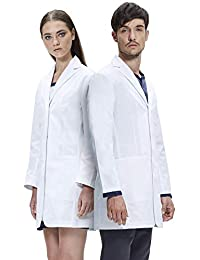 Dr. James Student Essentials Unisex Lab Coat, Tailored Fit, Multiple Pockets, 35 Inch Length