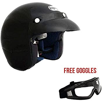 Amazon Com Dot Three Quarter 3 4 Open Face Motorcycle Helmet With
