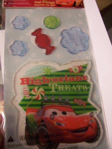 Disney Cars Christmas Gel Clings ~ High Octane Treats (6 Clings, 1 Sheet)