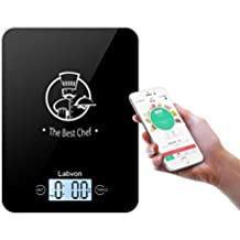 Labvon Food Scale - Kitchen Bluetooth Multifunctional Digital Weight 11lb 5kg Cooking Baking Scale Display Nutriment Calories Help Keep Slim Easy to Clean for Baby Dog Cat