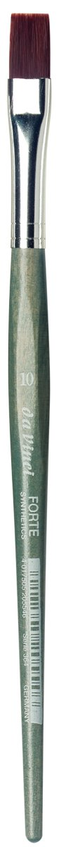 da Vinci Modeling Series 364 Forte Gaming and Craft Brush, Flat Extra-Strong Synthetic with Blue-Green Handle, Size 10