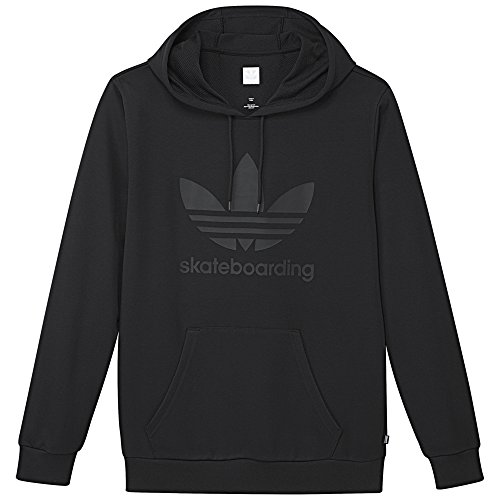 (adidas Originals Clima 3.0 Hoody, Black/Black, Medium)