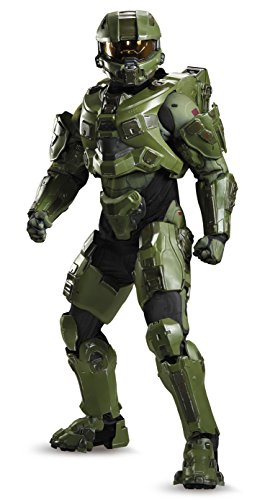 Disguise Men's Halo Master Chief Ultra Prestige Costume, Green, (Suit Of Armor Helmet)