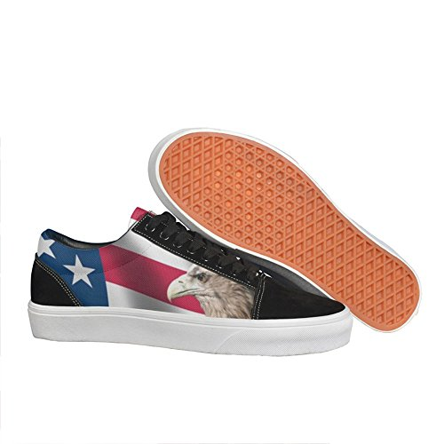 Flag and Eagle man.men.sportsman Casual sneakers shoes Flat Classic Fashion (Spring Plate Grommets)