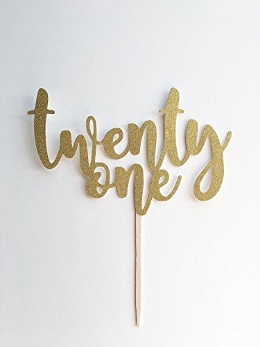 Amazon 1 Pc Age 21 Twenty One Birthday Script Fonts Gold