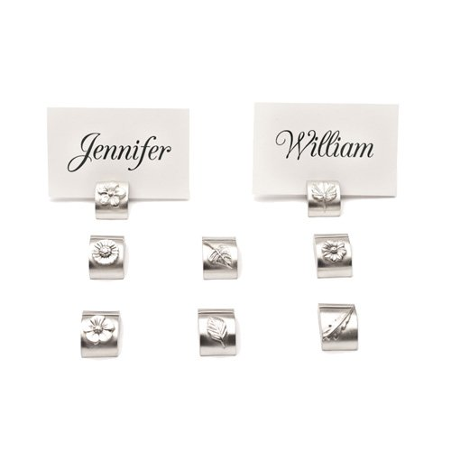Garden Themed Pewter Place Card Holders ()