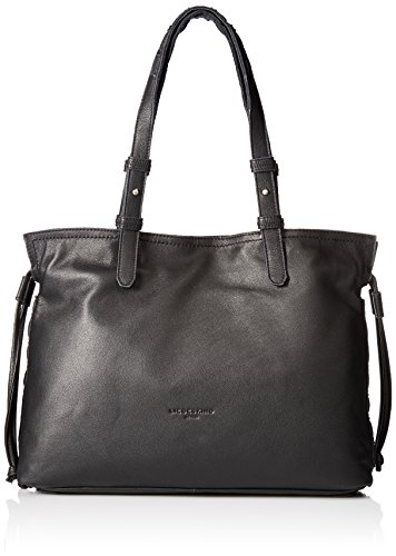 Liebeskind Berlin Women's Durham Leather Drawstring Tote, Oil Black
