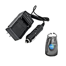 amsahr C-BP1030 Digital Replacement Mini Battery Travel Charger for Samsung BP-1030, NX200, NX210, NX1000 with Lens Accessories Pouch (Gray)