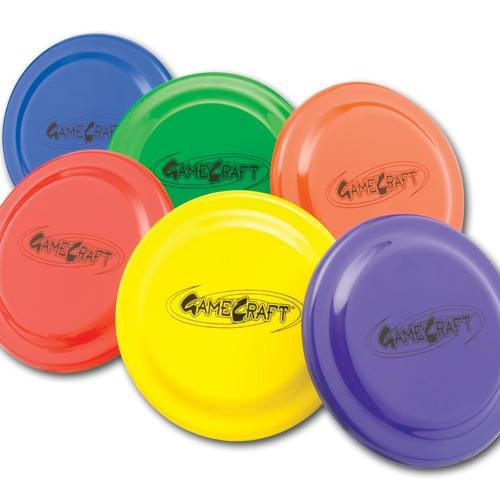 Gamecraft Plastic Flying Discs (Set of 6), 9-Inch by Gamecraft