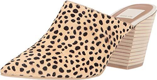 Dolce Vita Women's Angela Point Toe Mules, Leopard, Print, Tan, 7.5 M US
