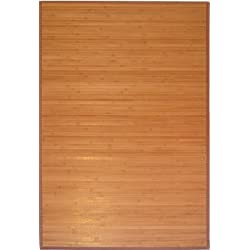 GinsonWare 3' X 5' Bamboo Floor Rug. #89-035 Natural Bamboo Color.