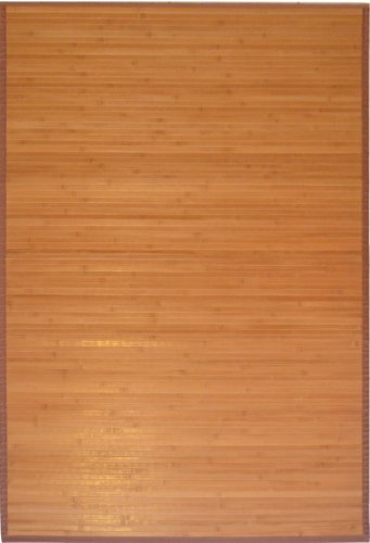 GinsonWare 3' X 5' Bamboo Floor Rug. #89-035 Natural Bamboo Color.