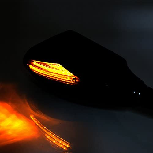 YP YuanPei Moto Int/égr/é Turn Signal R/étroviseurs c/ôt/é R/étroviseur Avant avec LED pour Honda CBR 600/F4i 929/954/RR F1/F2/ouragan Harley