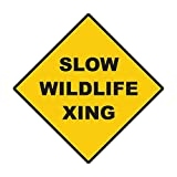 Slow Wildlife Xing - 15 Inch Tall Diamond Shaped Aluminum Sign