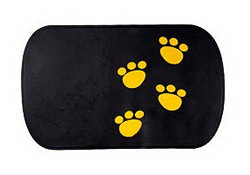PANDA SUPERSTORE Lovely Footprint Anti Slip Mat Car Non-slip Mat BLACK 1 Pcs