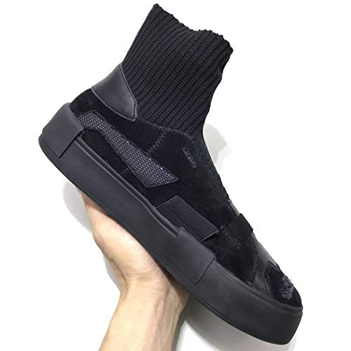 Senderismo Hip de Calzado Altos Lucdespo Casual elásticos Fondo Calcetines Calcetines Hop negro Grueso Estilo Muffins Botas de Señoras 4O4qZ
