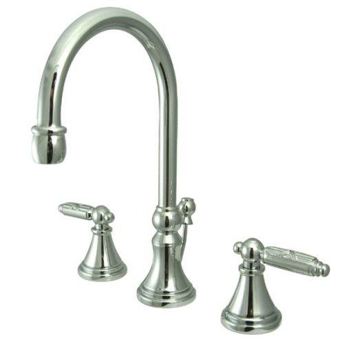 Kingston Brass KS2981GL Georgian Widespread Lavatory Faucet with Brass Pop-Up, Polished Chrome