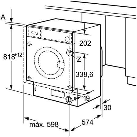 Balay 3TI984B Integrado Carga frontal 8kg 1000RPM A+++ Blanco ...