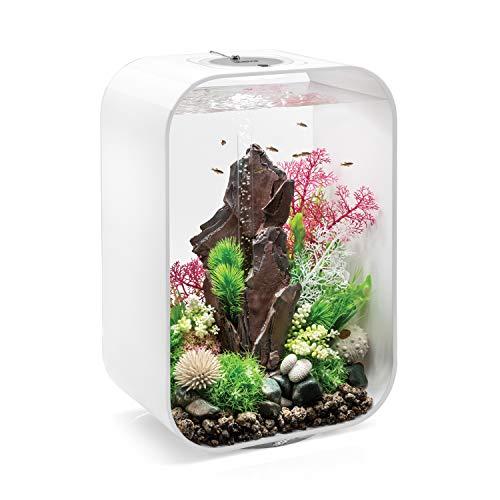 biOrb LIFE 45 Aquarium with Intelligent LED Light - 12 Gallon, White ()
