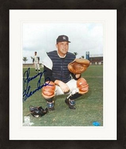 Autographed Johnny Blanchard Photograph - 8x10) #2 Matted & Framed - Autographed MLB Photos