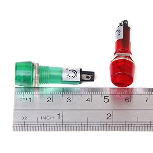 3pcs Rouge Jaune Vert 12V AC / DC Indicateur de Signal de Puissance Voyant Ampoule
