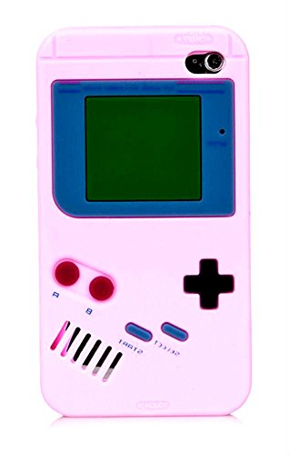 4th Generation Ipod Video - iTitan Sunrise Sky Pink {Classic Game Boy} Soft and Smooth Silicone Cute 3D Fitted Bumper Gel Case for iPod 4 (4G) 4th Generation iTouch by Apple