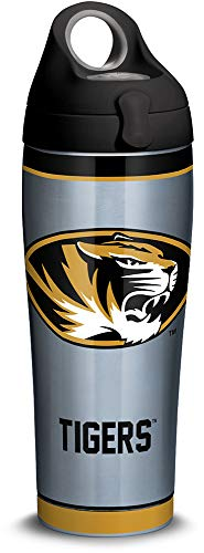Tervis 1316170 Missouri Tigers Tradition Stainless Steel Insulated Tumbler with Lid, 24oz Water Bottle, Silver ()