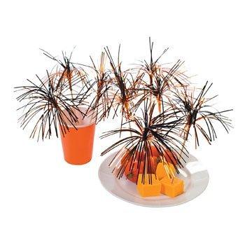 Orange & Black Burst Picks - Halloween Party Supplies]()