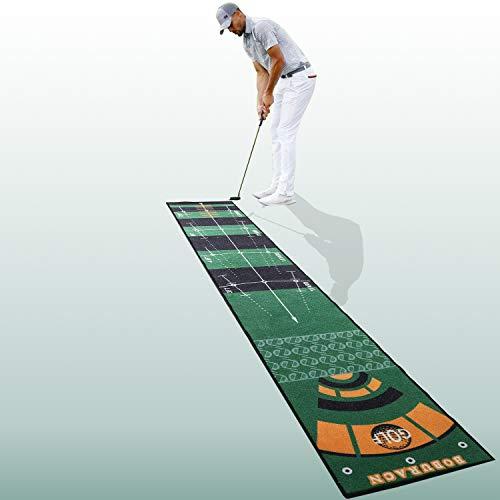 BOBURACN Putting Mat Putting Green Indoor in Extra-Long Golf Training Aid