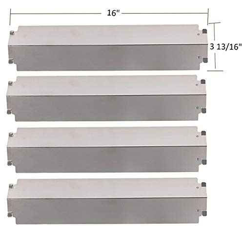 (SH3321 (4-pack) Stainless Steel Heat Plate, Heat Shield, Heat Tent, Burner Cover Replacement for Select Gas Grill Models by Charbroil, Thermos, Kenmore Sears, Lowes Model Grills and Others)