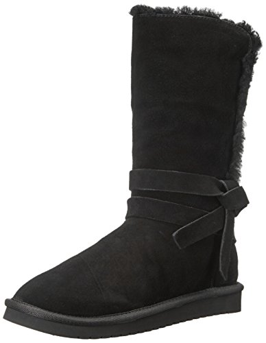 Koolaburra by UGG Women's rozalia Tall Fashion Boot, Black, 08 M (Faux Ugg Boots)