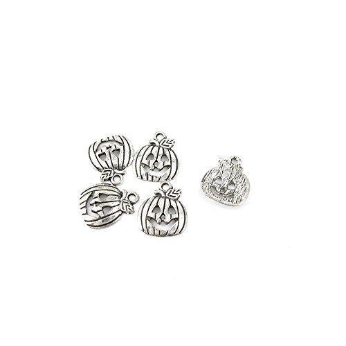 10 Pcs Jewelry Making Charms 249OU Halloween Pumpkins Antique Silver Fashion Finding for Necklace Bracelet Pendant Crafting Earrings