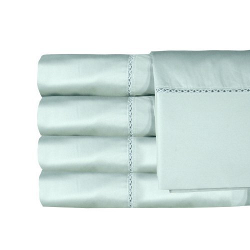 MADE IN THE USA Bella 300TC 100% Cotton Sateen Sheet Set, Queen, Sage By Veratex by Veratex, Inc. by Veratex