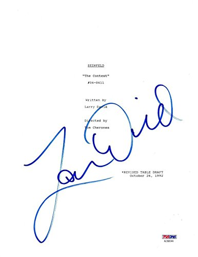 Larry David Signed Authentic Autographed 8.5×10 Script Cover PSA/DNA #