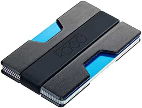 ROCO MINIMALIST Aluminum Slim Wallet RFID BLOCKING Money Clip - No.2
