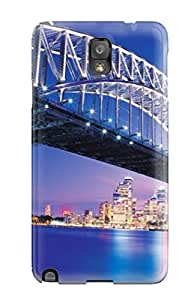 New Fashion Premium Tpu Case Cover For Galaxy Note 3 - Beautiful Sydney Bridge