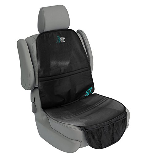 Universal Car Seat Protector - Extremely Durable with Non-Slip Backing - Increased Safety for your Child.Leak-proof to Protect against Spills.BONUS baby changing mat.