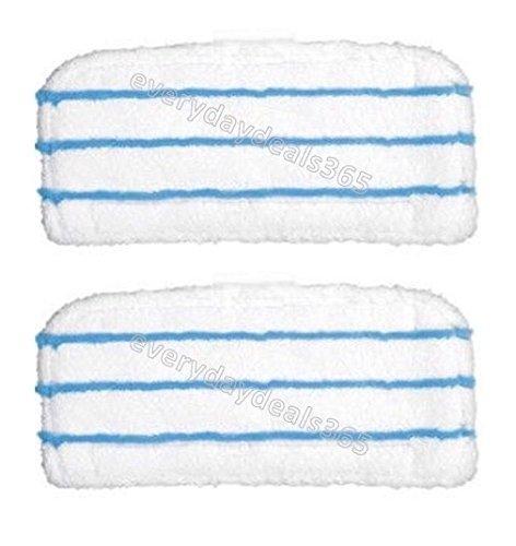 Deals2u365(TM),2panni bianchi di ottima qualità per la pulizia del pavimento principale, compatibili con lavapavimenti a vapore Black and Decker FSM1500, FSM1600,FSM1610,FSM1620,FSMH1621,FSM1630e FSMP20 Deals2u365(TM) FSM1610 FSM1620 FSMH1621