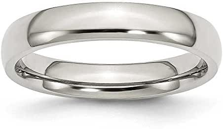 Chisel Polished Stainless Steel Ring (4.0 mm) - Sizes 6-13