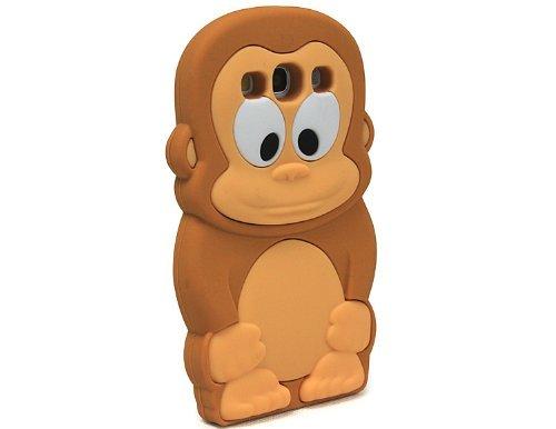 Boriyuan OEM 3D Cartoon Brown Monkey Soft Silicone Skin Case Cover for Samsung i9300 Galaxy S3 III