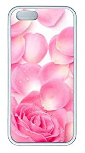 Pink RosCase For Iphone 5/5S Cover Case Funny Lovely Best Cool Customize White Cover