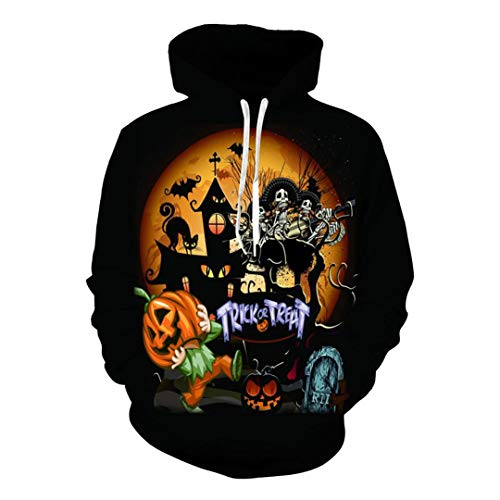 3D Print Halloween Pumpkin Lamp Skull Pullovers Causal Loose Sweatshirts]()