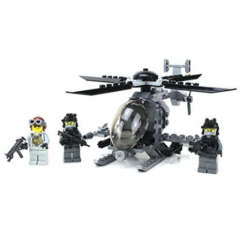 Ah-6 Little Bird w/ Troop Pack - Battle Brick Custom Set for sale