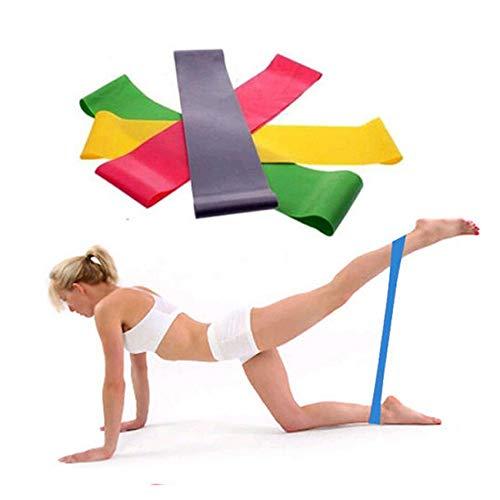 Justwide Widerstandsband Fitnessband 100% Naturlatex, geeignet für Pilates-Männer und -Frauen wie Muskelübungen, Yoga, Sport, Gymnastik, einfarbig, 600 mm × 50 mm × 0,9 mm