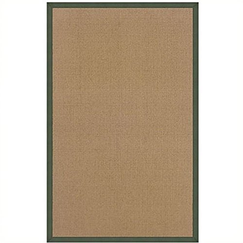 Hawthorne Collections 5' x 8' Hand Tufted Cotton Rug in Cork and Green -