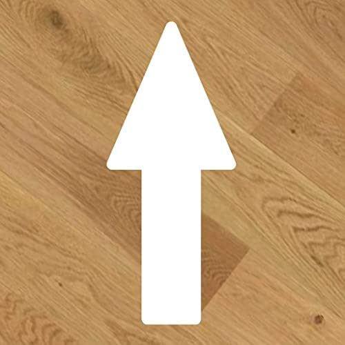 20 Pegatinas de vinilo para suelo, antideslizante, Flecha dirección [20x8,5cm] Elige tu color