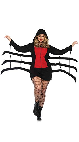 Leg Avenue Women's Plus Size Cozy Black Widow